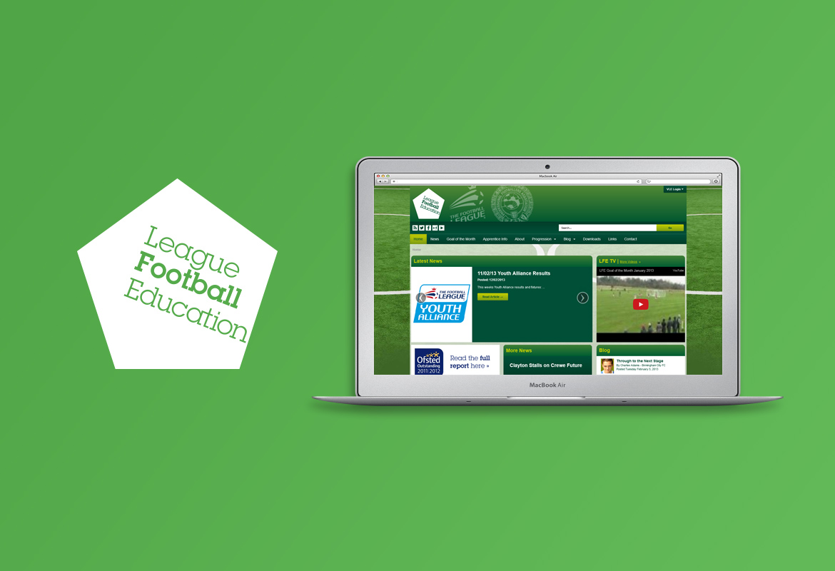 Responsive Web Design for League Football Education
