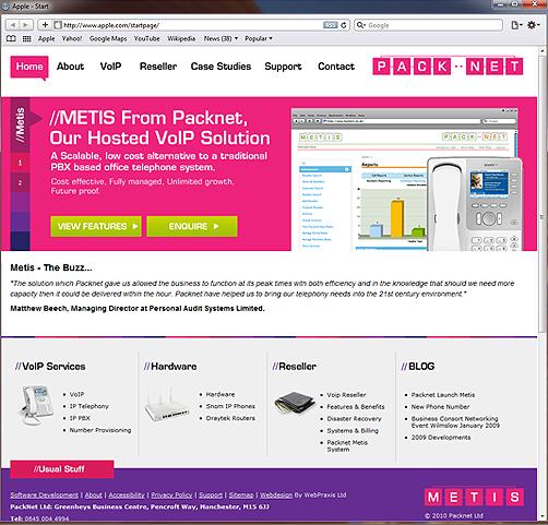 Packnet Bespoke Web Design
