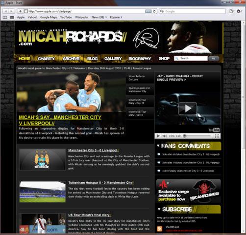 MicahRichards.com Website Launched!