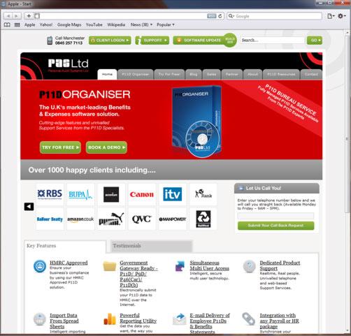 Web design and development for PAS Ltd