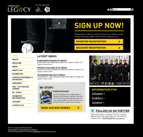 Create Your Legacy Website Launch