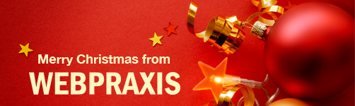 Merry Christmas from WebPraxis. Christmas Opening Times