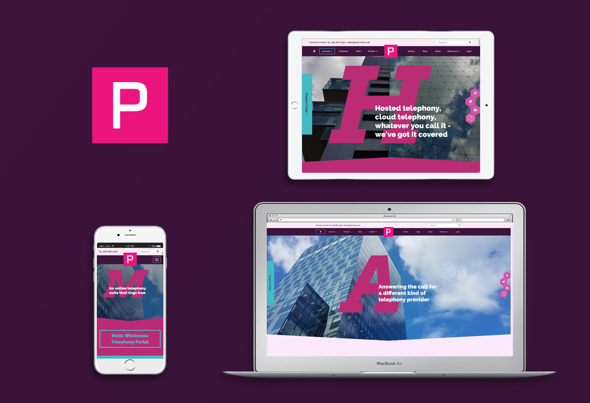 PackNet responsive website