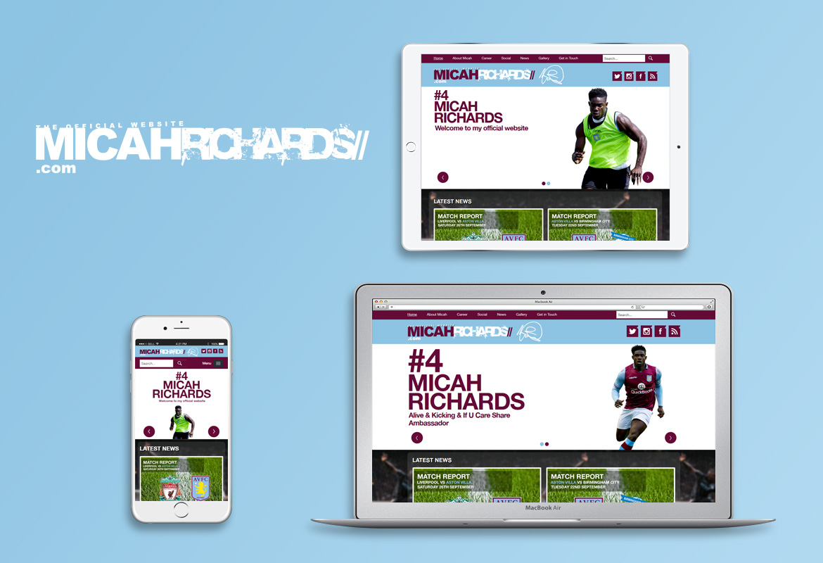 New, Responsive Website for Micah Richards