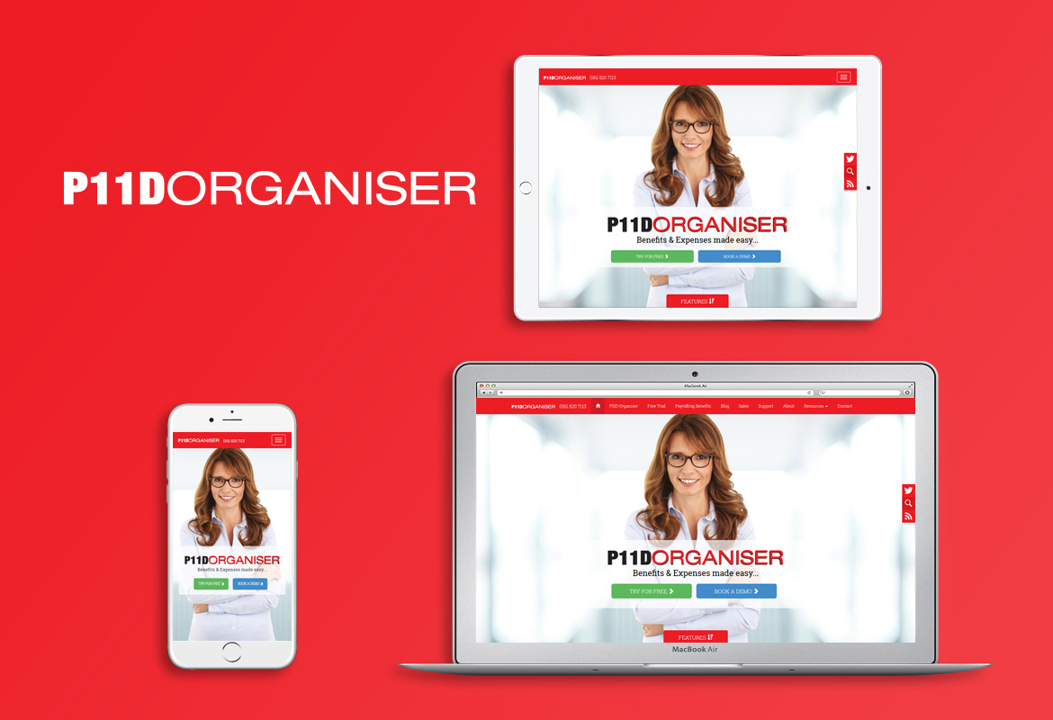 Responsive Web Design and Build for P11D Organiser