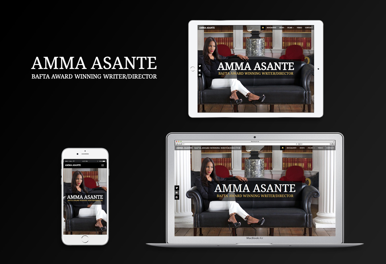 Amma Asante responsive website