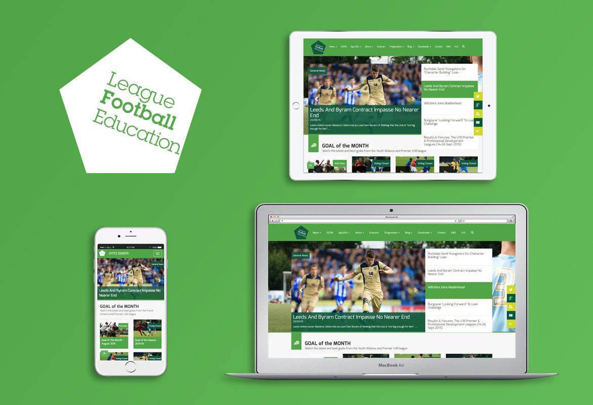 League Football Education responsive website