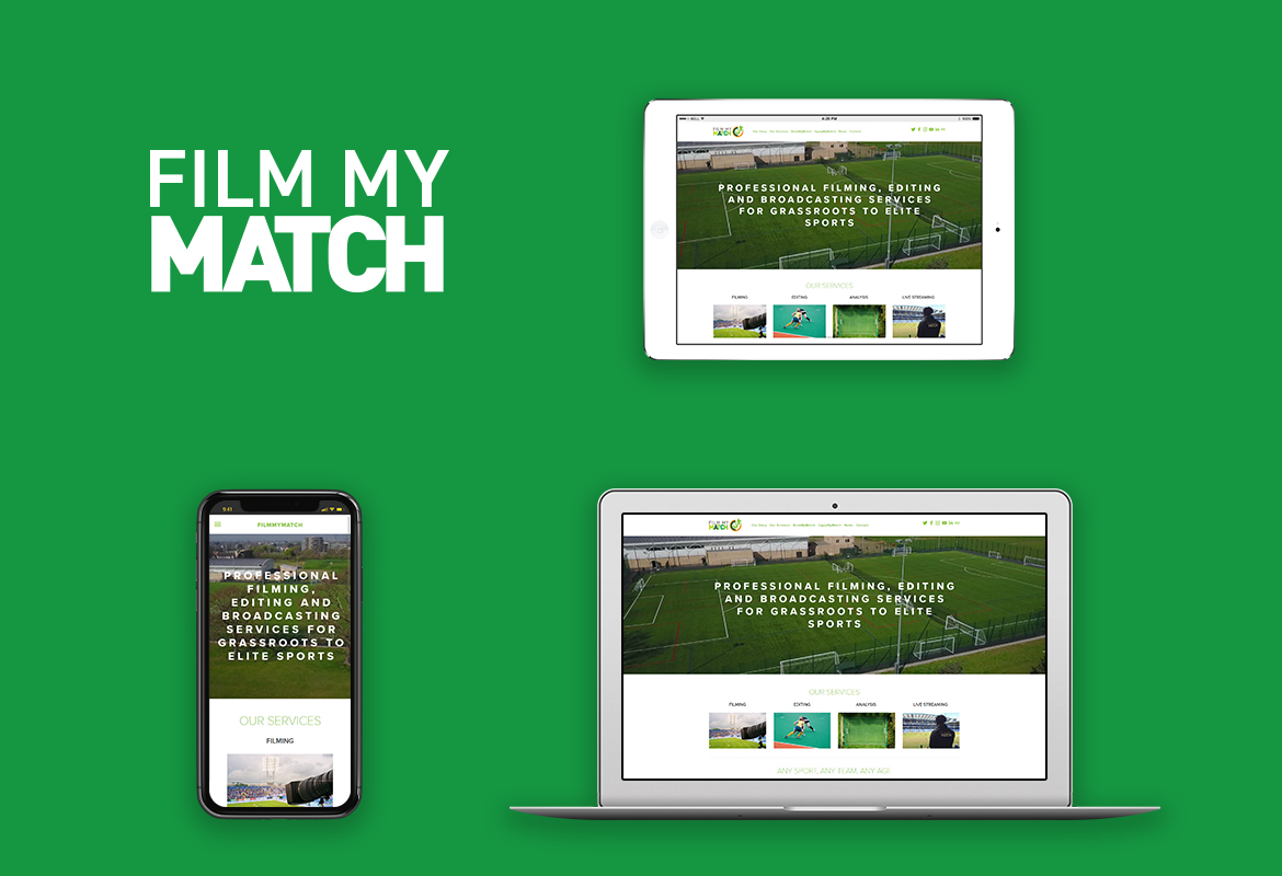 FilmMyMatch responsive website